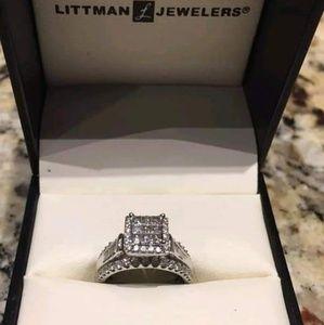 10k white gold 1ct wedding ring